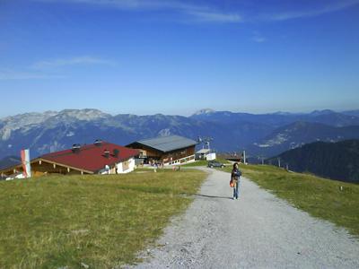 Estación de esqui en los Alpes verano