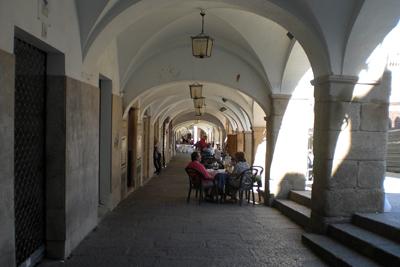Portales de la plaza de Cáceres